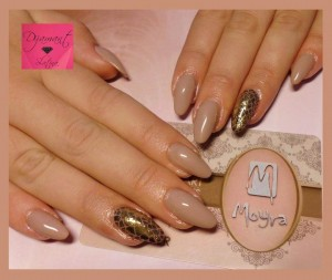 Pločica za pečatiranje Animalistic, magic folija gold, gel u boji 31 Nude brown